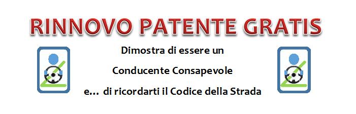 rinnovo patente gratis